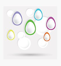 easter eggs paper  background Photographic Print