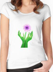 Green Fingers 2 Women's Fitted Scoop T-Shirt