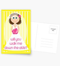 Wedding - Will You Walk Me Down The Aisle? Postcards