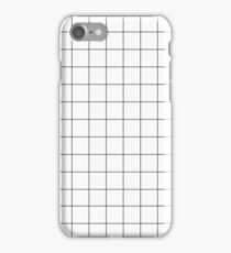 Grid White & Black iPhone Case/Skin