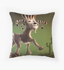 Super Cabra (goat) Throw Pillow