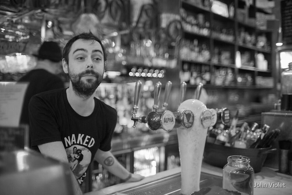 Melbourne Barman by John Violet