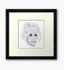 Trippy Einstein Framed Print