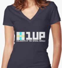 Design 3: Colonists of the Spiral Nebula Women's Fitted V-Neck T-Shirt