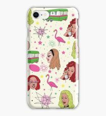Punk Flamingos Pattern iPhone Case/Skin