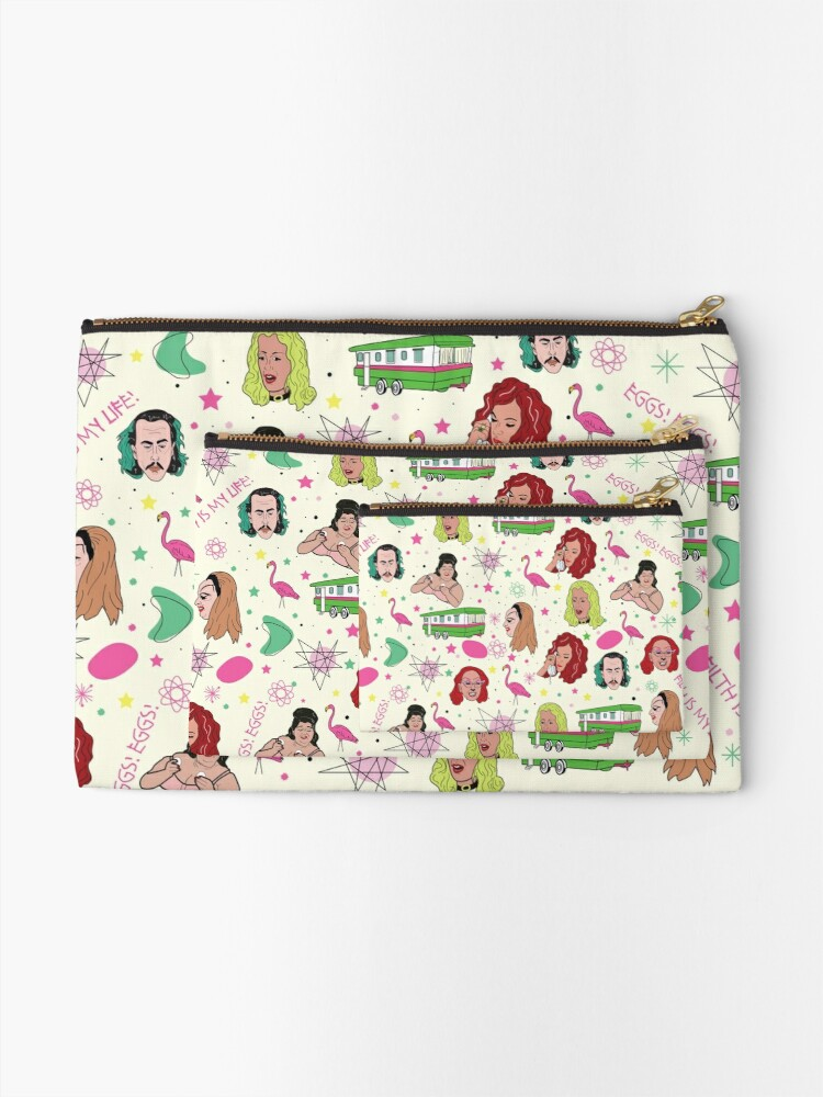 Alternate view of Punk Flamingos Pattern Zipper Pouch