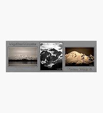 monochrome mountains of whatcom county Photographic Print