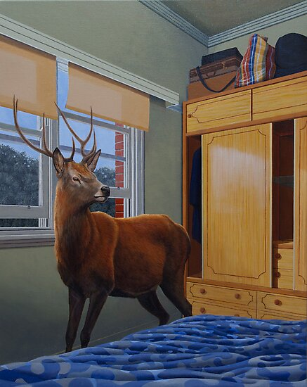 The Messenger, 2012, Oil on Linen, 76x61cm, 2012.  by Jason Moad