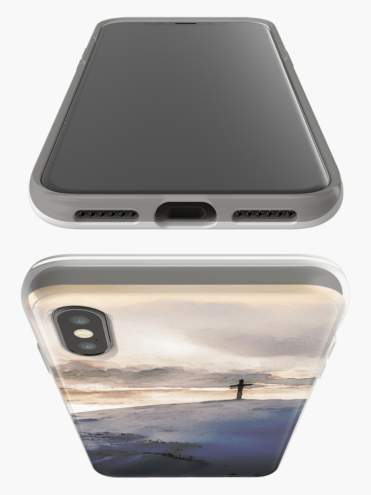 Alternate view of Christian Cross On Mountain iPhone Case & Cover