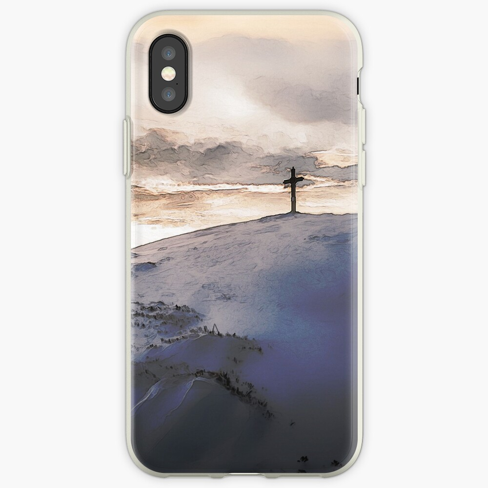 Christian Cross On Mountain iPhone Case & Cover