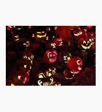 Jack-O-Lanterns 6 Photographic Print