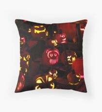 Jack-O-Lanterns 6 Throw Pillow