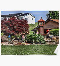 A yard garden Poster