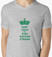 Keep Calm and Stay Boston Strong T-Shirt #2 Mens V-Neck T-Shirt