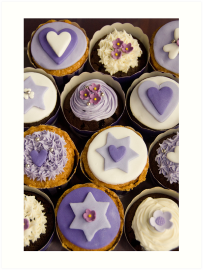 Purple Cupcake Birthday Card by Framed-Photos