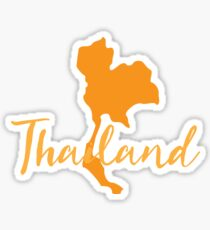 Thailand map fancy Sticker
