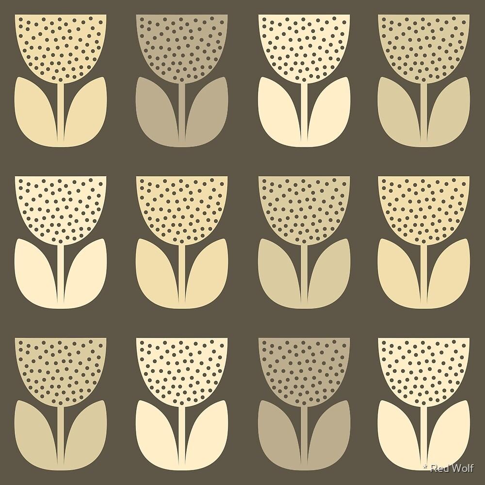 Geometric Pattern: Poppy: Dark Brown by * Red Wolf