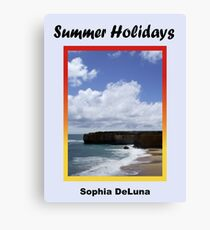 Lienzo Summer Holidays - eBook cover