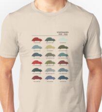 Vintage VW Beetle 60's original car colours Unisex T-Shirt