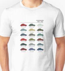 Vintage VW Beetle 60's original car colours T-Shirt