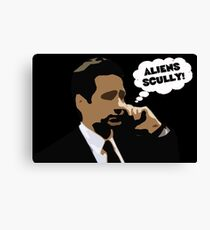 """X-Files Mulder """"Aliens Scully"""" Canvas Print"""