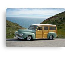 1947 Ford Woody Wagon Canvas Print