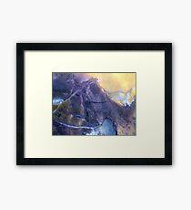 Mountain Pass (Tiffany Stone) Framed Print