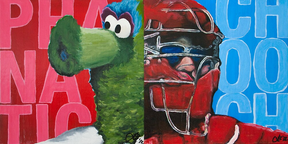 Phanatic and Chooch Diptych Painting by Lindsey Butler