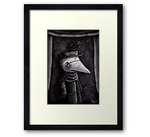 The Plague Doctor Framed Print