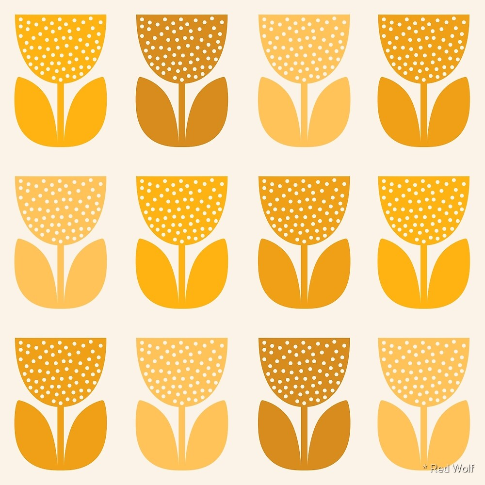 Geometric Pattern: Poppy: Light Yellow by * Red Wolf