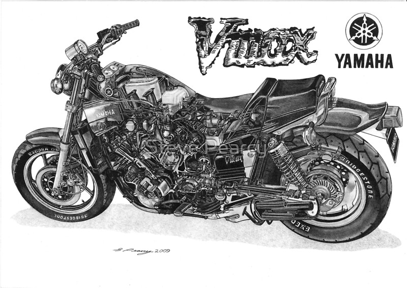 YAMAHA VMAX Posters by Steve Pearcy Redbubble