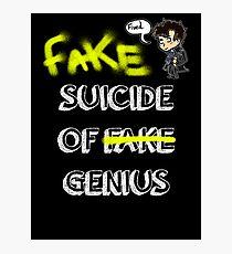 Fake suicide of genius. Photographic Print