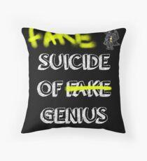 Fake suicide of genius. Throw Pillow