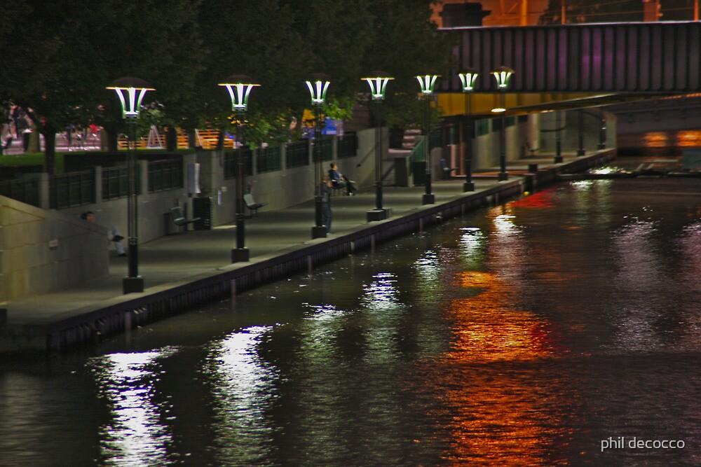 Yarra River Quai by phil decocco