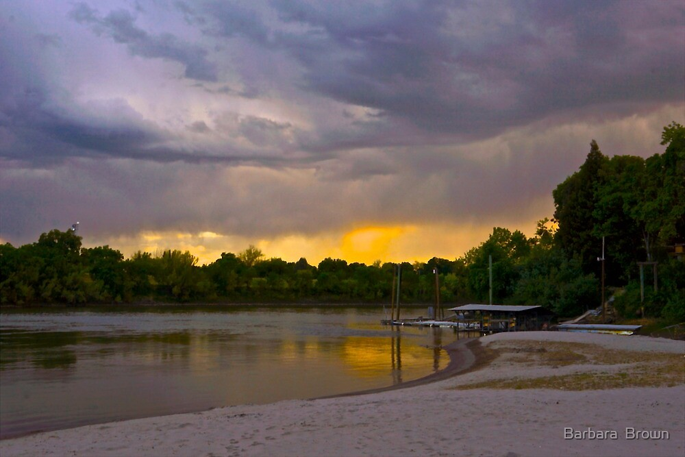Storm over the River by Barbara  Brown