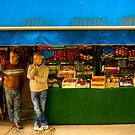 A Grocers' conversation in Paris by Elana Bailey
