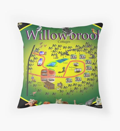 Willowbrook Cottages Throw Pillow