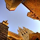 Buildings from above in Bruges by Elana Bailey