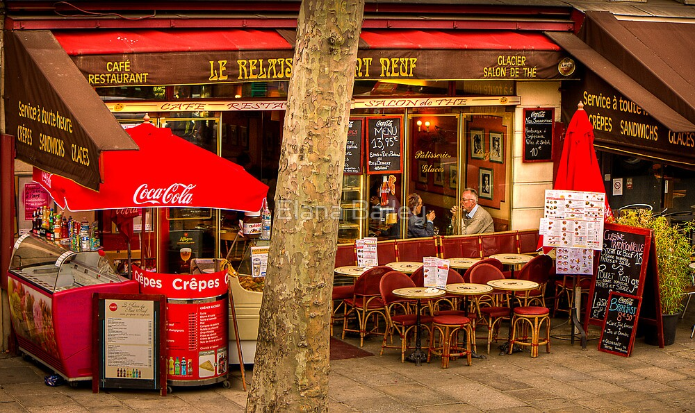 Lunch with a friend in Paris by Elana Bailey