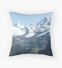 Snowy Eiger Throw Pillow