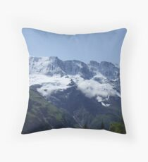 Snowy Alps Throw Pillow
