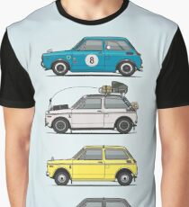 Stack of Honda N360 N600 Kei Cars Graphic T-Shirt