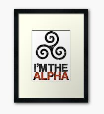 I'M THE ALPHA Framed Print