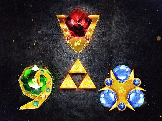 'The Spiritual Stones inspired from Ocarina of Time' Poster by  barrettbiggers