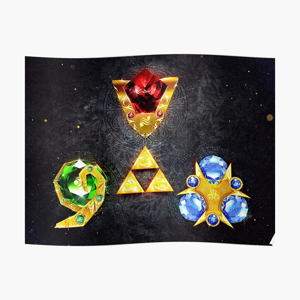 The Spiritual Stones inspired from Ocarina of Time Poster