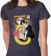 Teen Soldier Romance Comics Womens Fitted T-Shirt