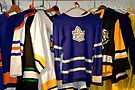 Hockey Team Sweaters by Laurie Minor