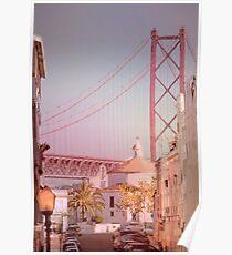 the bridge and the ermida sto. amaro Poster