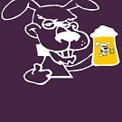Dog Likes Drinking Beer by pjwuebker