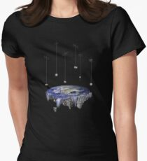 Flat Earth Women's Fitted T-Shirt